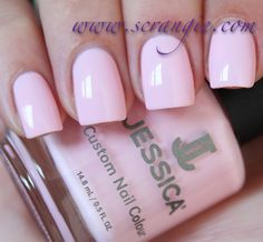 Jessica Strawberry Shake It. Light creamy baby pink. Just like the color of a strawberry milkshake.