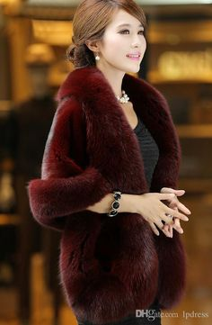 Cheap faux fur coats women, Buy Quality faux fur coat directly from China fur cape coat Suppliers: Spring Faux Fur Coat Women Thicken Poncho Cardigan Fake Fox Fur Jacket Furry Shawl Plush Fur Cape Coat Ladies Purple White Red Poncho Coat, Cape Coat, Fur Cape, Poncho Mantel, Long Fur Coat, Dress With Shawl, Dress Vest, Coats For Women, Clothes For Women