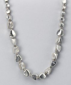 Take a look at this Silver Pebbles Necklace by nAccents on #zulily today!
