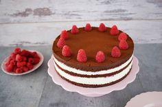 Himbeer-Schokoladentorte / Naked Cake