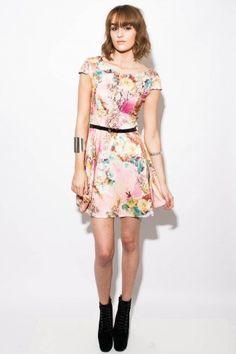 Libbey Floral Print Skater Dress