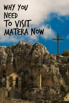 Matera Italy, a stunning city in the Basilicata region, is rich with history, cave hotels and authentic Italian food. The time to visit Matera is now.
