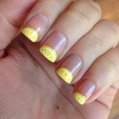 Lemon Nails by Instagrammer @sparklesmcglitterson