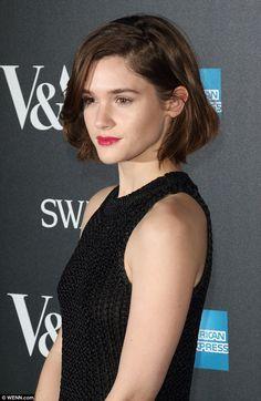 Red carpet stunner: Sai Bennett kept it simple in a black crochet top, looking exquisite w...