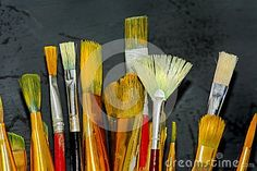Artist Brushes - Download From Over 46 Million High Quality Stock Photos, Images, Vectors. Sign up for FREE today. Image: 74689262