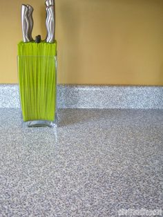 Six-dollar Counter Top Transformation. Believe it or not, that's Con-Tact granite contact paper from Home Depot. Brianna of Craft and Repeat explains exactly how she applied the contact paper to her kitchen counters.