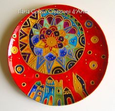Mandala, Decorative Plates, Tableware, Home Decor, Fonts, Dishes, Dinnerware, Decoration Home, Room Decor