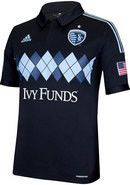 Sporting Kansas City Argyle 3rd Kit Jersey 2014 Version With Gold Star by adidas