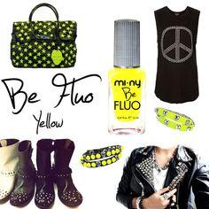 BE FLUO YELLOW     #nail #nailpolish #naillacquer @MI-NY Cosmetics