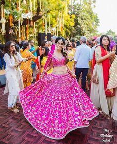 Bride With Pink Bridal Lehenga : Spotted Online Indian Bridal Wear, Indian Wedding Outfits, Bridal Outfits, Indian Outfits, Indian Wear, Indian Weddings, Pink Bridal Lehenga, Designer Bridal Lehenga, Pink Lehenga