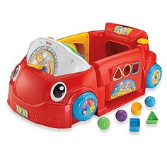 This adorable Laugh & Learn™ Car by Fisher-Price® puts your child in the driver seat of a fun stationary vehicle to learn and to play. It includes interactive lights and sounds on the dashboard that will keep your baby busy.