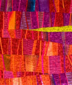Janet Windsor, Sticks 2 (a quilt) I like all of her work Quilt Modernen, Purple Quilts, Strip Quilts, Textiles, Contemporary Quilts, Pablo Picasso, Fabric Art, Oeuvre D'art, Quilting Designs