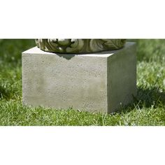 Campania International Small Textured Low Square Pedestal For Cast Stone Garden Statues And Urns, Ferro Rustico Stone Garden Statues, Garden Stones, Buchart Gardens, Small Water Features, Diy Trellis, Garden Trellis, Concrete Materials, Cast Stone, Flower Basket