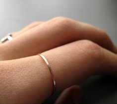 rose gold skinny ring