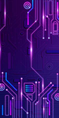 Handy Wallpaper, Purple Wallpaper, Mobile Wallpaper, Wallpaper Backgrounds, Iphone Wallpaper, Technology Wallpaper, Technology Background, Art And Technology, Xiaomi Wallpapers
