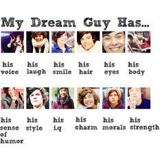 I like my men like I like Harry Styles.... Tall Dark and Harry Styles
