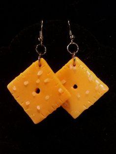 cheese-its earrings handmade on Etsy.com