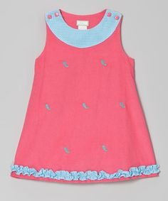 Take a look at this Hot Pink Paisley Ruffle Jumper - Infant, Toddler & Girls by K&L on #zulily today!