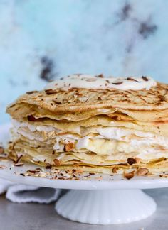 almond cream crepe c
