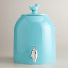 One of my favorite discoveries at WorldMarket.com: Aqua Bird Ceramic Drink Dispenser