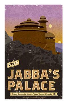 Les affiches de tourisme imaginaires des films cultes