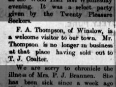 F. A. Thompson of Winslow