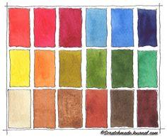 18-Color Watercolor Palette