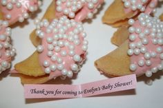 baby shower fortune cookie favors with a custom by GourmetEvents, $1.50