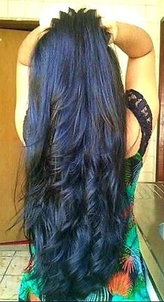 but time for a change. To your shoulders. Big Curls For Long Hair, Long Silky Hair, Really Long Hair, Long Dark Hair, Long Layered Hair, Thick Hair, Loose Hairstyles, Indian Hairstyles, Beautiful Long Hair