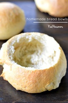 Homemade Bread Bowls | Real Housemoms | This recipe is so easy and perfect for my Fall soups and dips!!!