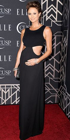 """Stacy Keibler's Bright & Boho Bump Style 