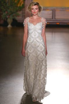 Helene - Wedding Dress by Claire Pettibone runway front full