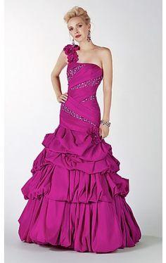 Full Length One Shoulder Formal Dress AL-5418