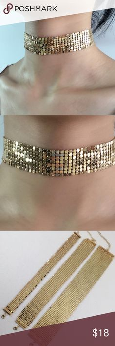 ** REDUCED ** Get it Now ! Fashion Elegant Choker. As seen in first and second picture! Gold Color💯 Jewelry Necklaces