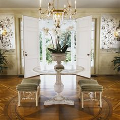 Great New House Unfortunately Has No Foyer. Thinking Of Adding A Round Table To  Give The
