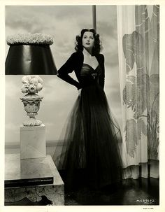 Hedy Lamar. re-pinning because she I gorgeous and I LOVE that dress!
