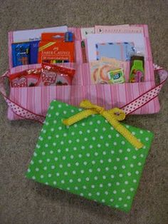 Travel activity packs love this-  I should make these for Grace and Isaiah as Christmas presents since they are going to Disney world
