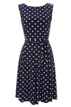 Wallis Navy Blue Polka Dot Dress.jpg