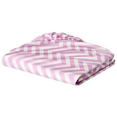 Circo® Fitted Crib Sheet - Pink Chevron $9.99