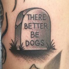 One more for #NationalDogDay but a little different. 'There Better Be Dogs' Grave tattoo by @mickeyttattoos at @outerlimitstattoo in Long Beach CA. This tattoo based on original concept by @monstersoutside. #mickeytattoos #mickeyhasan #outerlimitstattoo #longbeach #california #therebetterbedogs #dogsoverpeople #dogsoverhumans #gravetattoo #tattoo #tattoos #tattoosnob