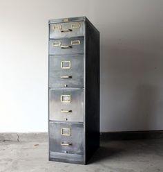 1930s Allsteel Stripped Filing Cabinet manlyvintage.com +  www.facebook.com/manlyvintage