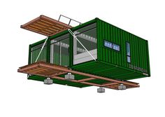 Image result for footprint of 8' x 10' shipping container