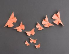 3D Wall Butterflies: Canary Yellow Butterfly by hipandclavicle