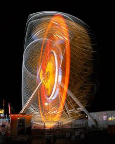#Photography: Long-Exposure Photos of #Carnival Rides Over the Decades