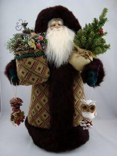 Woodland Friends Santa- Santa Claus Doll - pinned by pin4etsy.com