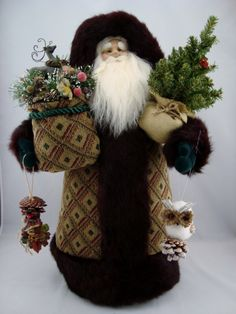 Woodland Friends Santa- Santa Claus Doll - pinned by pin4etsy.com