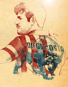 Diego Costa, the panther. on Behance