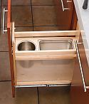 Rev-A-Shelf - Wood Pullout Vanity Grooming Organizer - The Hardware Hut Kitchen Drawer Organization, Vanity Organization, Kitchen Drawers, Stainless Steel Bins, Spice Drawer, Wood 8, Drawer Inserts, Rev A Shelf, Wooden Pegs