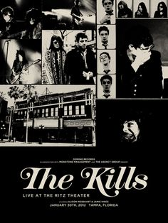 """The Kills, concert poster 
