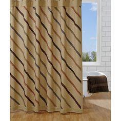 Lewiston Cotton Ruffled Unlined Shower Curtain